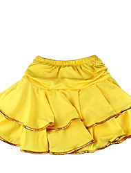 Latin Dance Tutus & Skirts Children's Training Milk Fiber Ruffles 1 Piece Children's LatinDance Dress