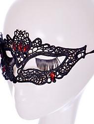 Sey Stil schwarz / weißer Spitze Maske für Halloween Partydekoration Masker Maskerade