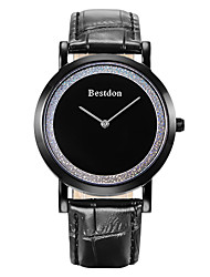 Bestdon® Fashion Vintage Leather Simple Design Water Resistant Japanese Quartz Water Resistant Men Wristwatch