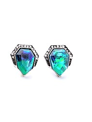 European Style Luxury Gem Earrings Geometric Rhinestone Stud Earrings for Women Fashion Jewelry
