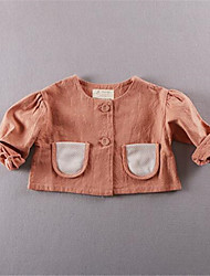 Girl's Casual/Daily Solid Blouse,Cotton Fall Green / Pink / White