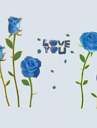 Floral Stickers muraux Stickers avion Stickers muraux décoratifs / Stickers mariage,PVC Matériel Amovible Décoration d'intérieurWall