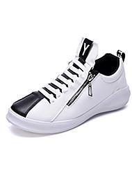 Femme-Sport-Noir Bleu Blanc-Talon Plat-Confort-Baskets-Polyuréthane