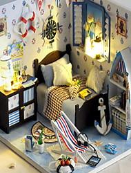 pequeña casa diy de la cabaña de verano del mar regalo creativo modelo de la casa montaje manual para enviar a las niñas