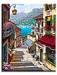 Hand Painted Oil Painting Home Decoration Wall Art Alley Pictures