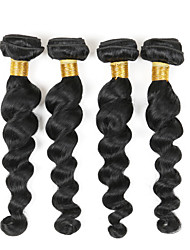 "4 Bundles 8""-26"" Remy Virgin Malaysian Loose Wave Human Hair Weave Extensions 400G"