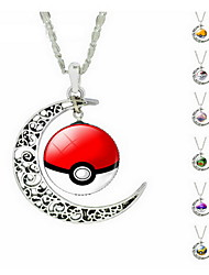 Pendant Necklaces Gemstone Alloy Adorable Purple Yellow Red Green Blue Jewelry Daily Casual 1pc