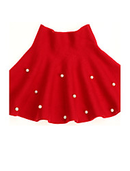 Girl's Casual/Daily Polka Dot Dress,Wool Winter / Spring / Fall Red