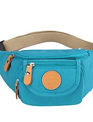 Feminino Lona Esporte / Ao Ar Livre Bolsa de Cintura Azul / Vinho