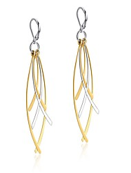 Earring Leaf Drop Earrings Jewelry Women Bohemia Style Party / Daily Stainless Steel 1 pair Gold