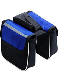 Bike Bag Waterproof / Waterproof Zipper / Reflective Strip / Wearable Bicycle Bag Nylon Cycle Bag Cycling/Bike 14*11*5