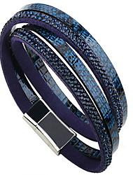 Bracelet Bracelets Wrap / Bracelets en cuir Cuir Forme de Cercle Mode / Bohemia style Quotidien / Décontracté Bijoux Cadeau Vert,1pc