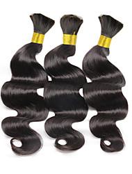 Tissages de cheveux humains Cheveux Brésiliens Ondulation naturelle 6 Mois 3 Pièces tissages de cheveux