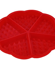 1 X Heart Shape Waffle Mold Silicone Oven Pan Baking Cookie Cake Muffin Cooking Tools Kitchen Accessories Supplies