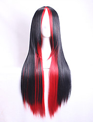 Black Gradient Red 28 inch Long Straight Hair Cosplay wig