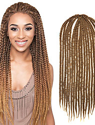 "Light Brown Senegal Crochet Twist Medium Box Braid 24"" Kanekalon 3 Strands 100g Hair Braids Free Crochet Hook"