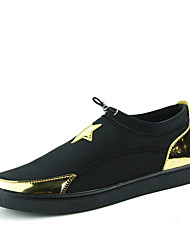 Men's Shoes Outdoor / Casual Fabric Fashion Sneakers Black / Silver / Gold