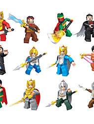 12piece/lot Three Kingdoms War Series Models Building Toy Plastic Minifigures  Special Weapons For Boys Gift