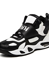 Femme-Extérieure Décontracté Sport-Noir Blanc-Talon Plat-Confort-Baskets-Microfibre