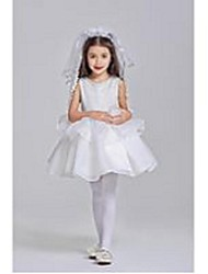 Ball Gown Short/Mini Flower Girl Dress/ Polyester Sleeveless