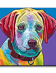 100% Handpainted High Quality Modern Picture Wall Art Oil Painting Cute Doggy On Canvas For Living Room Decor