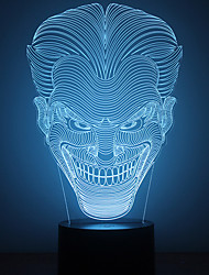Amazing 3D Lllusion Led Table Lamp Night Light With Joker Shape