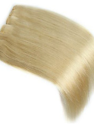 Human Hair Weft 5 Pcs/Package Straight 100% Indian Remy Hair Weave Extensions #613 Bleach Blonde Human Hair Weft Hair