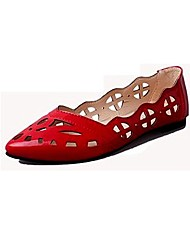 Women's Shoes Libo New Style Office / Dress / Casual Comfort Flat Heel Hollow-out Loafers Pink / Red / White