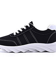 Men's Shoes Outdoor / Casual Fabric Fashion Sneakers Black / Blue