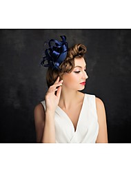 Women's Feather Tulle Headpiece-Special Occasion Fascinators 1 Piece