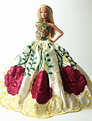 Party & Evening Dresses For Barbie Doll Red / Green / Yellow Dresses