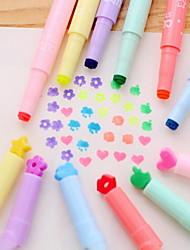 multifunción colores de caramelo escritos singular marcador de color de la pluma fluorescente