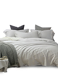 2016 New Full Cotton Solid 4PC Duvet Cover Sets Super Soft