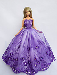 Princesse Robes Pour Poupée Barbie Violet Robes Pour Fille de Doll Toy