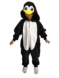 Kigurumi Déguisements d'animaux Halloween / Noël / Carnaval / Nouvel an / Le Jour des enfants Blanc & noir Couleur Pleine Polaire
