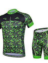 Sportif Maillot et Cuissard de Cyclisme Homme Manches courtes Vélo Respirable / Anti-transpirationMaillot + Short/Maillot+Cuissard /