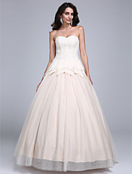 Prom Dress Ball Gown Sweetheart Floor-length Lace / Tulle with
