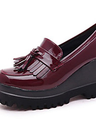 Women's Shoes Patent Leather Summer Wedges Heels Casual Wedge Heel Others Black / Burgundy