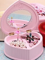 Creative Peach Heart Cake Music Box