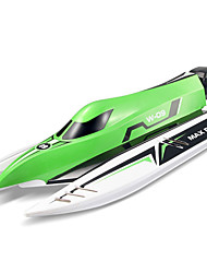 Speedboat WLTOYS WL915 1:10 Racing RC Boat Brushless Electric 4 Channels 2.4G 45KM/H Metal/Plastic Red / Green