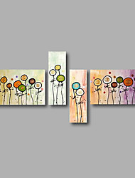 "Stretched (Ready to hang) Hand-Painted Oil Painting 68""x40"" Canvas Wall Art Modern Abstract Flowers Floral"