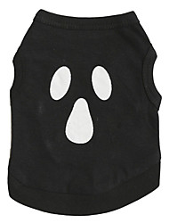 Gatos / Perros Disfraces / Camiseta Negro Verano / Primavera/Otoño Halloween Cosplay / Halloween, Dog Clothes / Dog Clothing-Other