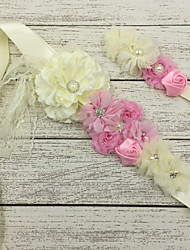 Satin Wedding / Party/ Evening Sash-Floral Flower Girl's 51 ¼in(130cm) Floral
