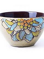personnalité créative bol alimentaire céramique (bol de riz couleurs aléatoires) peints à la main
