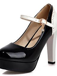 Homme-Habillé Soirée & Evénement-Noir Bleu Rose Blanc Beige-Talon Aiguille Plateforme-A Plateau-Chaussures à Talons-Similicuir