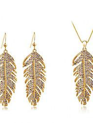 Women's Bohemian Fashion Elegant Crystal Necklace Earrings Set