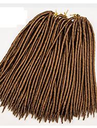 #27 Вязаные / Гавана дредлоки Наращивание волос 14 18 inch Kanekalon 24 нитка 115-125 грамм косы волос