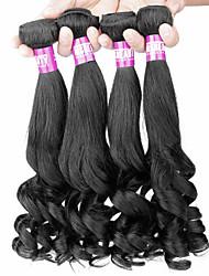 """4 PC / Los 14 """"-22"""" 7a brasilianische reine Haarbirnenblume Menschenhaareinschlagfäden 100% unverarbeitetes brasilianisches remy Haar"""