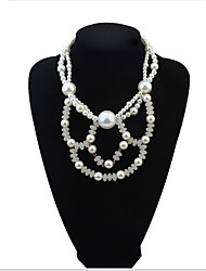 Beaded Wear Flowers Pearl Necklace