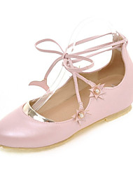 Women's Flats Spring Summer Fall Comfort Leatherette Dress Casual Flat Heel Others Pink White